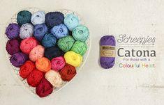 Nieuw in Sonja's Haakboet Scheepjes Catona 50 gr. verkrijgbaar in 69 kleuren.