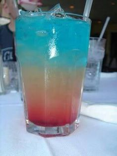 Bomb Pops ~ 2 oz Bacardi Razz Rum, 2 oz Lemonade, 2 oz Blue Curacao....can't wait to try!