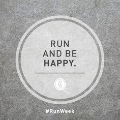 Corre y se feliz. #Corre #Motivación