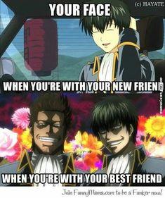 anime, funny, and gintama image Anime Meme, Anime In, Manga Anime, Anime Tumblr, Anime Qoutes, Otaku Anime, Anime Shows, Anime Stuff, Gintama Funny