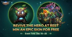Invite your friends to revive the Hero at rest and you will stand a chance to obtain Epic Skins. Moreover, abundant rewards including amazing Skin Trial Cards, Fortune Meteorite and Battle Emotes await! Fourth Phase, Mobile Legend Wallpaper, Mobile Legends, Invite Your Friends, Battle, Rest, Invitations, Philippines, Cards