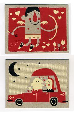 Valentines Day Card Set 2009 - illustration 1 - work - tad carpenter