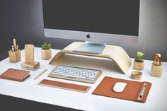 Desk Furnishings by Grovemade to Encourage Posture and Organisation