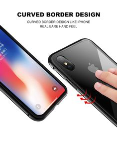 Bakeey 360° Magnetic Adsorption Metal Glass Protective Case for iPhone X/8/8 Plus/7/7 Plus/6s/6s Plus/6/6 Plus 6s Plus, Protective Cases, Ipad, Iphone Cases, Apple, Apple Fruit, Iphone Case, Apples, I Phone Cases