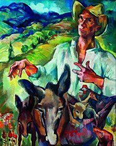 Zsögödi Nagy Imre - Towards Noah's Ark Artists, Ark, Image, Paintings, Human Figures, Paint, Artist, Painting Art, Painting