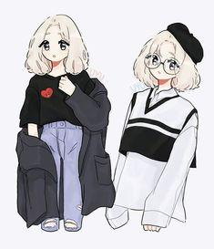 🌿💫 ☁️ //am still sick ; Cute Art Styles, Cartoon Art Styles, Poses Anime, Character Art, Character Design, Art Mignon, Drawing Anime Clothes, Cool Anime Girl, Dibujos Cute