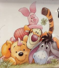 Winnie the Pooh, Piglet ,Tigger and Eeyore.
