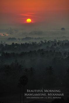 Sunrise at Mawlamyine in Myanmar (Burma)