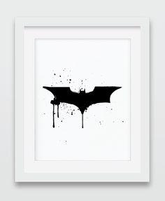 A personal favorite from my Etsy shop https://www.etsy.com/listing/232494298/batman-batman-print-batman-painting