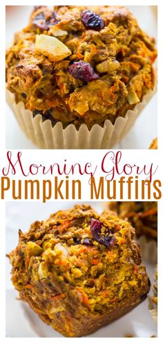 Healthy Muffins, Healthy Sweets, Healthy Pumpkin Desserts, Cranberry Recipes Healthy, Thanksgiving Desserts, Fall Desserts, Health Desserts, Healthy Snacks, Morning Glory Muffins