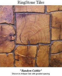 End Grain Tiles: Reclaimed Wood Floor & Wall Tiles in Auburn, NY :: Levanna Restoration Lumber. Sooo pretty!!!!
