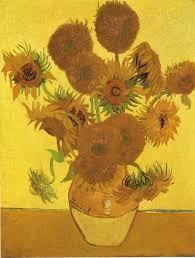 """""""Vaso con girasoli"""", Vincent van Gogh, 1889; olio su tela, 95x73 cm; Van Gogh Museum, Amsterdam."""