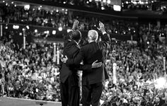 President Obama and Vice President Joseph R. Biden Jr. waved to delegates at the close of the convention