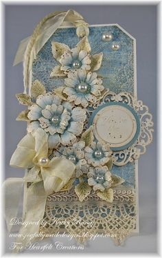 Vintage Floral Tag by rosekathleenr - Cards and Paper Crafts at Splitcoaststampers