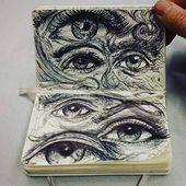 drawings and eyes image Cool Art Drawings, Pencil Art Drawings, Art Drawings Sketches, Arte Sketchbook, Art Diary, Hippie Art, Aesthetic Art, Cute Art, Art Inspo