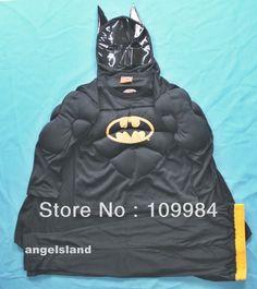 Free Shipping - Kids Superhero MUSCLE BATMAN Halloween Costume Party Dress Up 2-3Y  $14.99