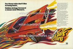 1970 1971 HG HOLDEN MONARO GTS 350 POSTER AD SALES BROCHURE MINT