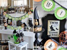 Halloween Witches Ball Witch Cupcakes Printables via Kara's Party Ideas - www.KarasPartyIdeas.com:shop