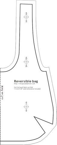 Reversible bag pattern | Spiced Sweet Roasted