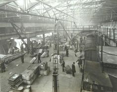 Great Western Railway Hockley inward goods depot interior, Birmingham, England, c1925.