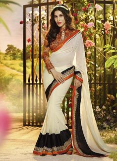 Cream Wholesale Sarees Exporter Surat  Grab Now @ http://www.suratwholesaleshop.com/77-Outstanding-Blue-Party-Wear-Designer-Saree-Surat-Wholesale-Shop?view=catalog  #wholesalesarees #bulksarees #designersarees #traditionalsarees #onlinesarees
