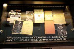 """Where one burns books, one will, in the end, burn people."" - Heinrich Heine, German-Jewish poet"