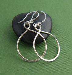 Large sterling silver infinity earrings by jersey608jewelry, $26.00