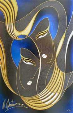 Midnight Lovers by Martiros Manoukian, Limited Edition Print, Serigraph on Paper