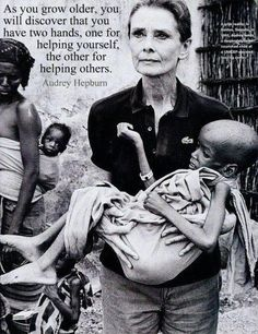 Words of Wisdom from Audrey Hepburn- philanthropist/ activist