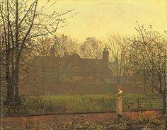 John Atkinson Grimshaw  'The Chill of Autumn 1881 oil on board by Plum leaves, via Flickr