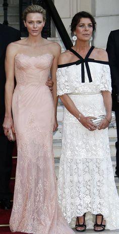 Charlene y Carolina de Mónaco