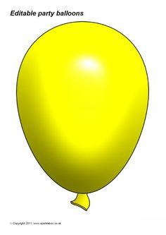 Powerpoint Background Templates, Balloon Template, Birthday Clipart, Essie, Preschool, Clip Art, Party, Color, Kid Garden