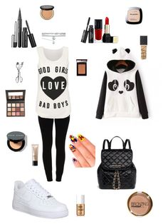 """""""#6"""" by b3ttyw3ldon on Polyvore featuring beauty, VILA, NIKE, Wet Seal, MICHAEL Michael Kors, Guerlain, Marc Jacobs, Sigma, Too Faced Cosmetics and NARS Cosmetics"""