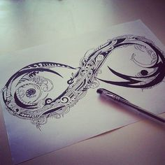 Zentangle Doodle, tattoo design