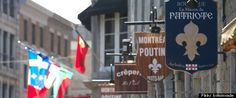 Montreal, Canada - old town shop signs - Montreal Airport car hire Poutine, Of Montreal, Montreal Canada, Art Indien, Canada Eh, Restaurant Week, My Town, Canada Travel, Shop Signs