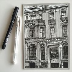 NYC #art #drawing #pen #sketch #illustration #linedrawing #architecture #newyork #nyc #uppereastside