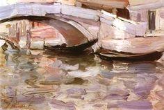 Wet-on-wet ; Build-up ; Open Canvas technique? art inspir, american painter, john singer sargent, arti stuff, art insprat, singer artist, landscap paint, oil paint, art sake