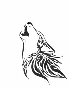 Simple but beautiful howling wolf...