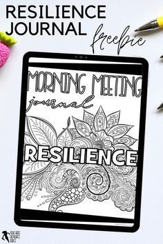 Character Education Morning Meeting Digital Whiteboard and Printable Journal freebie sample on RESILIENCE, ideal for social and emotional learning. This resource includes both a sample of the PowerPoint and the Journal of the same quotes so you can display the quote on the board while students record their reflections in their journals. This allows for maximum impact and flexibility for you and your needs. Teaching Character, Character Education, Character Development, Personal Development, Social Emotional Learning, Social Skills, Help Teaching, Teaching Resources, Growth Mindset Display