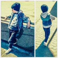 Fashion boy spring outfit denim street style