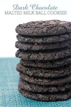 How to Make Dark Chocolate Malted Milk Ball Cookies Sandwich Bar, Roast Beef Sandwich, Sandwiches, Dark Chocolate Cookies, Chocolate Malt, Chocolate Recipes, Vanilla Recipes, Sweet Recipes, Malted Milk Balls Recipe