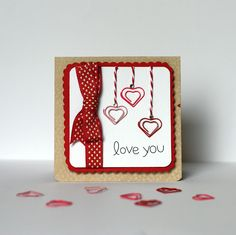 Love You Card Using The With Love Collection. Valentines Days Ideas #Valentines, #pinsland, https://apps.facebook.com/yangutu