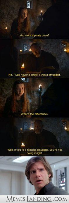 Ser Davos on smuggling