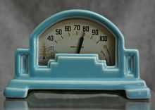 Fab Art Deco Ceramic Desk Thermometer from The Devil Duck Collection on Ruby Lane