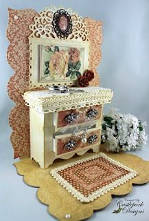 Crafty Secrets Heartwarming Vintage Ideas and Tips: Shabby Tea Room Samples, Mini Dressers, Tissue Printing and Great Samples!