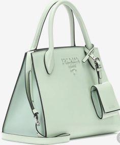 Cabas En Cuir Monochrome Small - Prada handbags and purses leather Prada Handbags, Prada Bag, Luxury Handbags, Purses And Handbags, Ladies Handbags, Prada Backpack, Designer Leather Handbags, Blue Handbags, Cheap Handbags