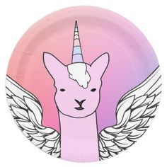 Shop Unicorn Llama Party Plates created by SAM_SibleyArtMedia. Llama Birthday, Girl Birthday, Birthday Party Decorations, Birthday Parties, Unicorn Party Supplies, Party Plates, Top Gifts, Childrens Party, Art For Kids