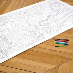 Giant coloring poster!