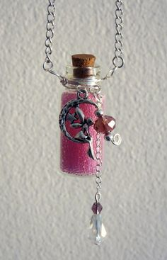 Fairy Dust Glass Bottle Chain Necklace Vial by HollowHillDesigns, $19.95