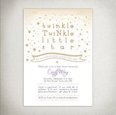 BABY SHOWER Printable Twinkle Twinkle Little Star by DraftEleven